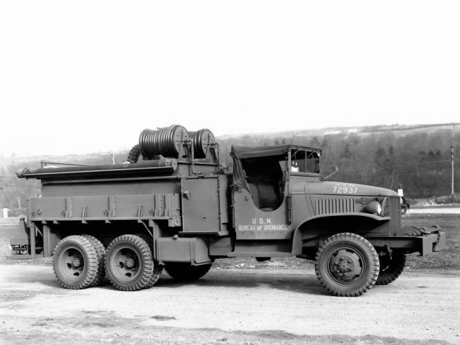 1941 GMC CCKW 353 Firetruck American LaFrance retro military wallpaper