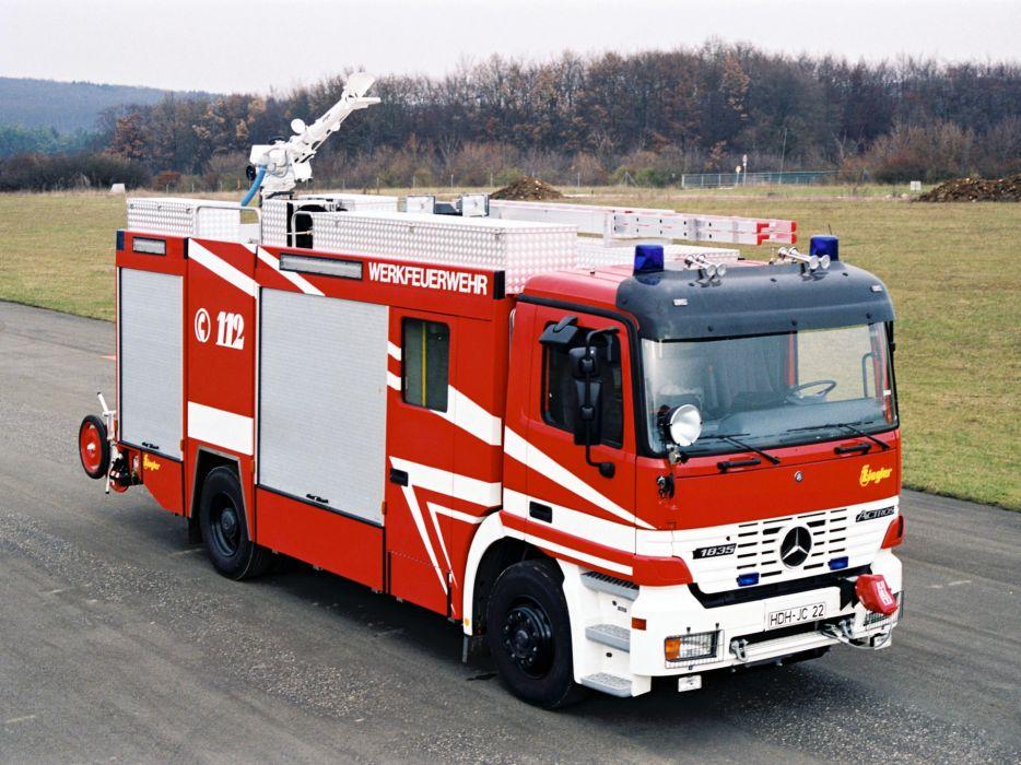1997 Mercedes Benz Actros 1835 Feuerwehr Ziegler MP1 firetruck wallpaper
