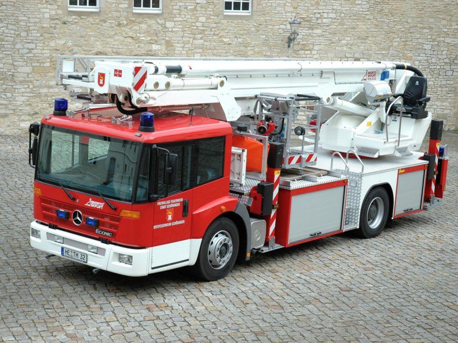 1999 Mercedes Benz Econic Feuerwehr Ziegler firetruck wallpaper