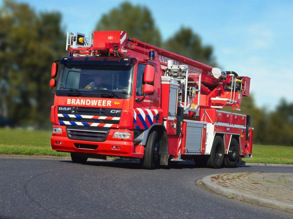 2001 DAF CF75 6x2 FAS Firetruck Ziegler wallpaper