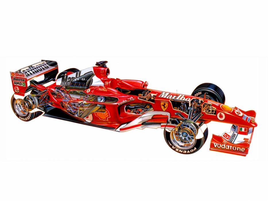 2004 Ferrari F2004 formula one f-1 race racing   ff wallpaper