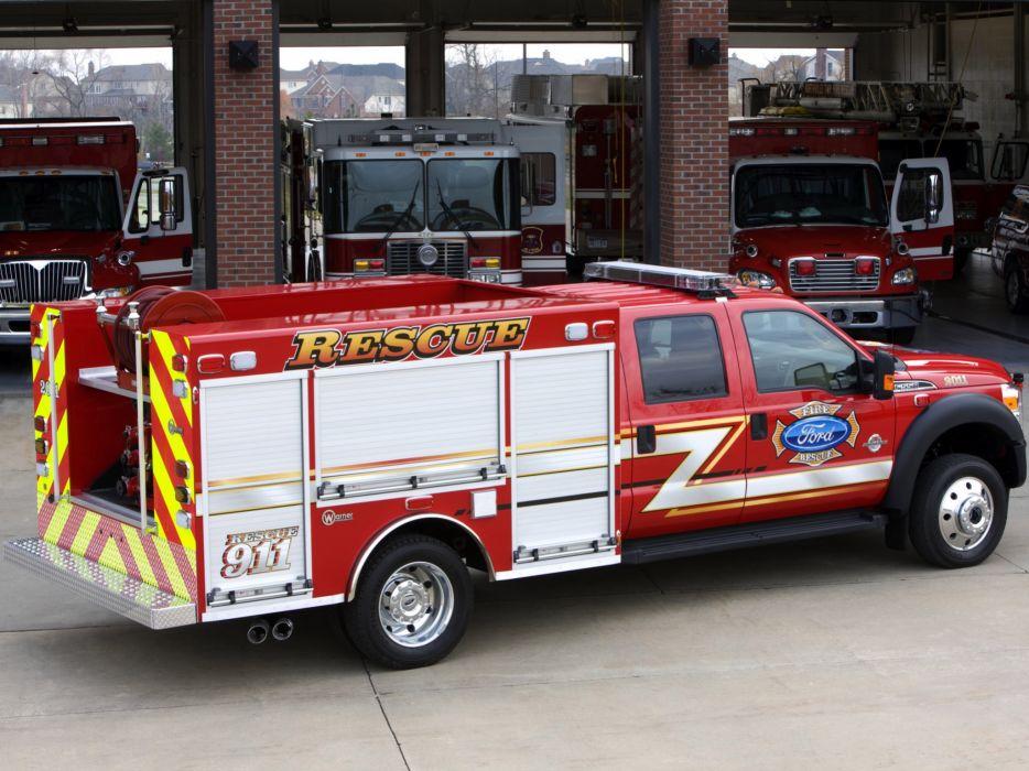 2010 Ford F-550 Super Duty Crew Cab Firetruck Warner 4x4   g wallpaper