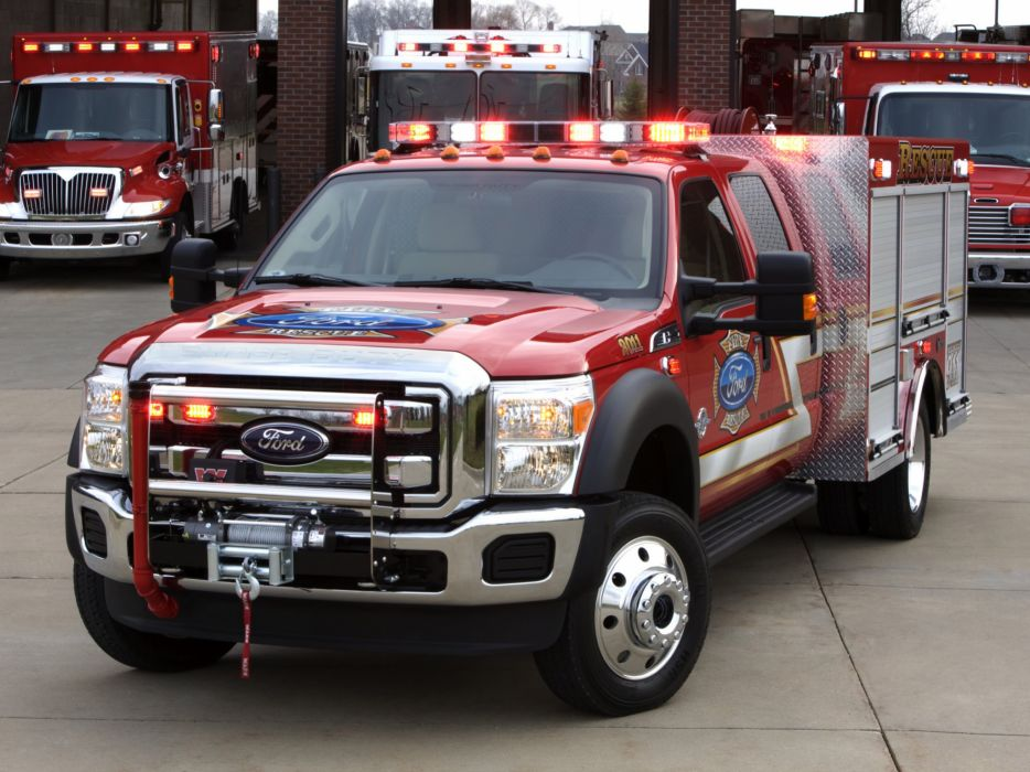 2010 Ford F-550 Super Duty Crew Cab Firetruck Warner 4x4 wallpaper