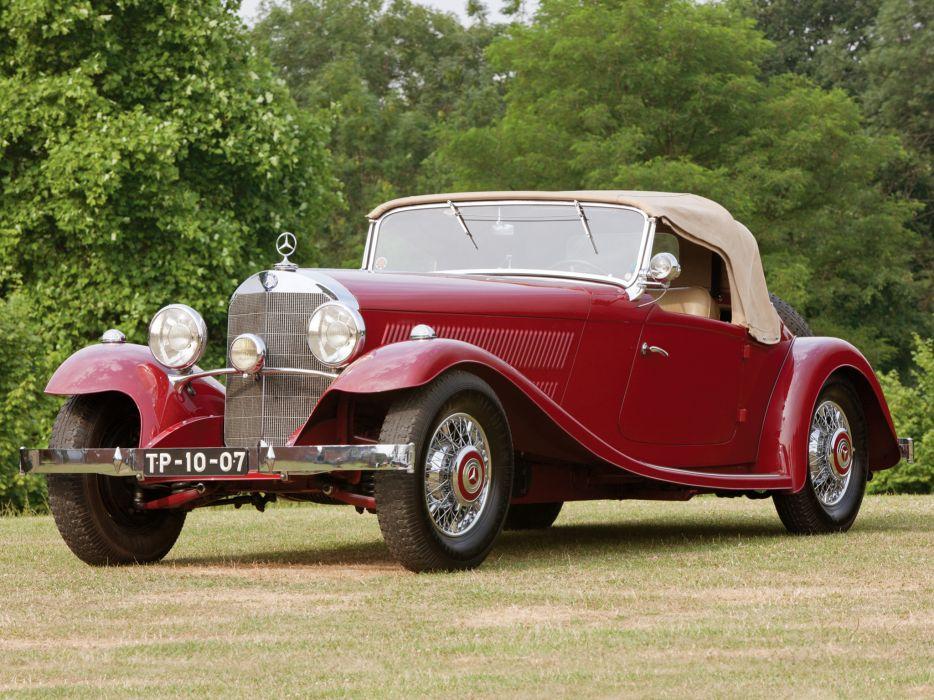 1933 Mercedes Benz 380 K Sport Roadster W22 retro wallpaper
