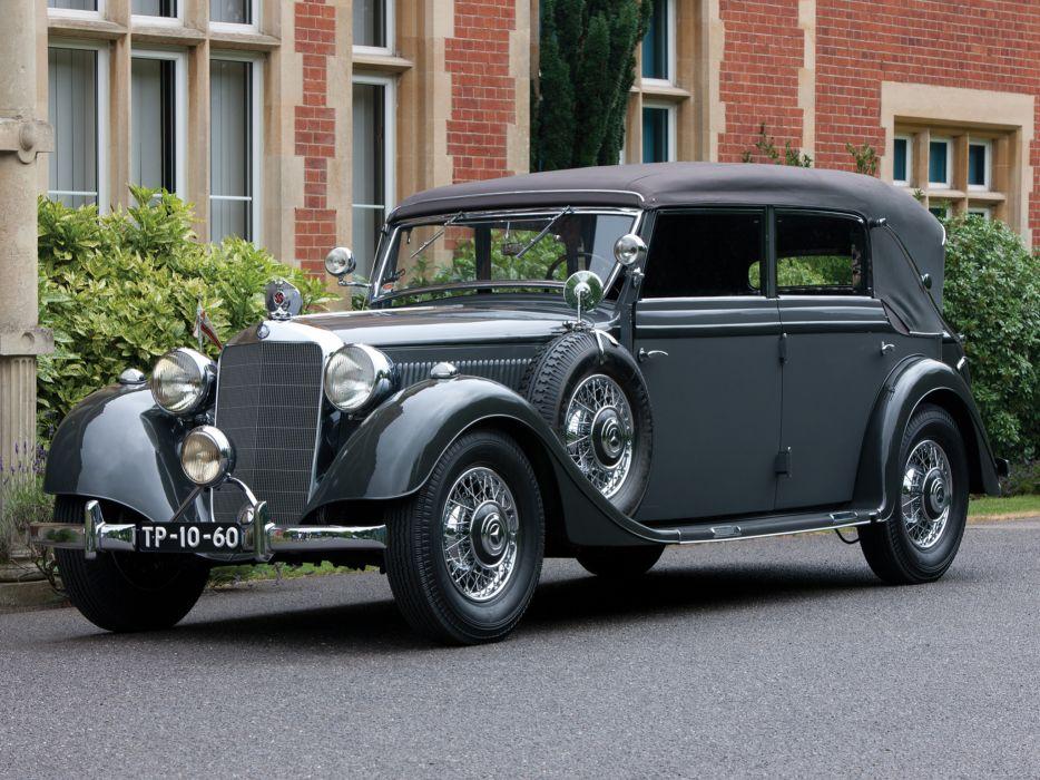 1937 Mercedes Benz 320 Pullman Cabriolet W142 luxury retro wallpaper