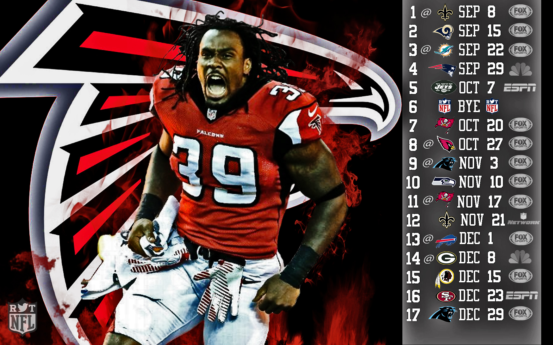 2013 Atlanta Falcons Football Nfl G Wallpaper