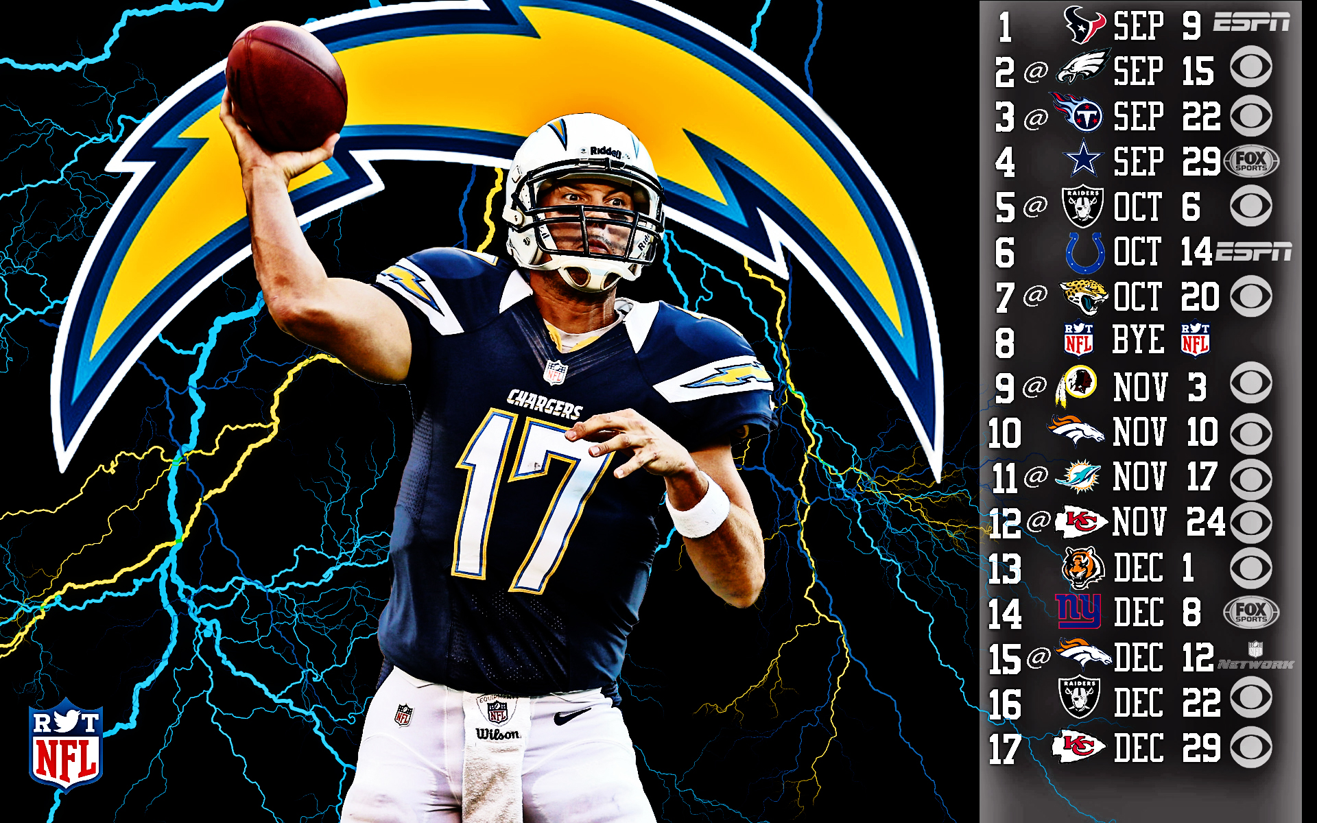 2013 San Diego Chargers Football Nfl Wallpaper 1920x1200