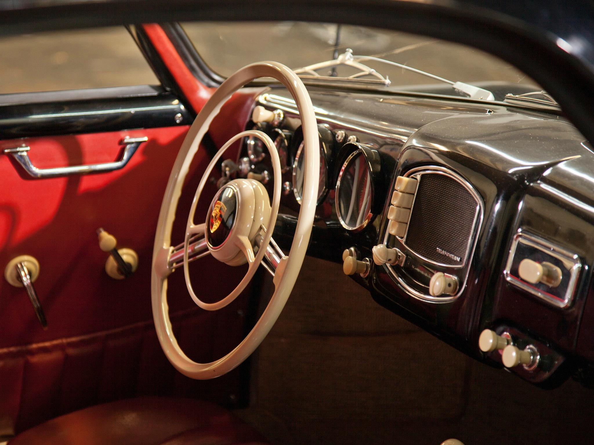 1954 Porsche 356 Coupe Reutter Retro Interior F Wallpaper