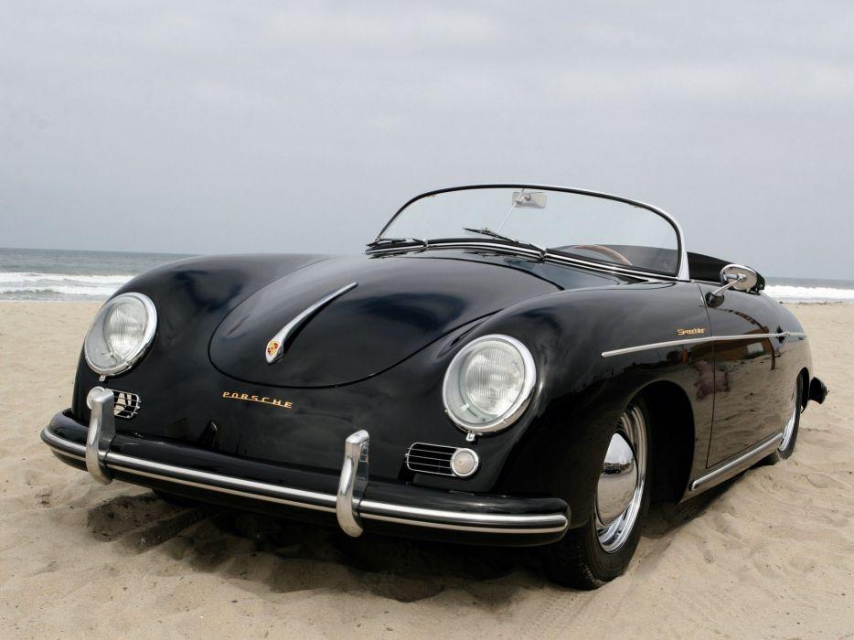 1955 Porsche 356A 1500 Speedster US-spec T-1 retro g wallpaper