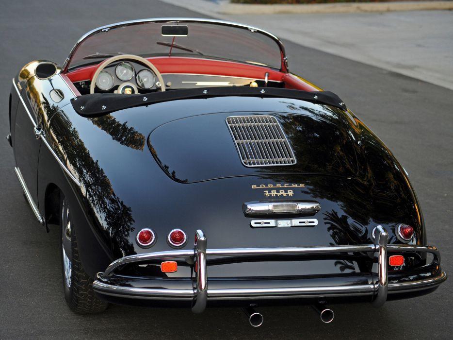 1955 Porsche 356A 1600 De-Luxe Speedster US-spec T-1 retro  f wallpaper