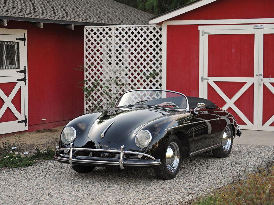 1955 Porsche 356A 1600 De-Luxe Speedster US-spec T-1 retro wallpaper