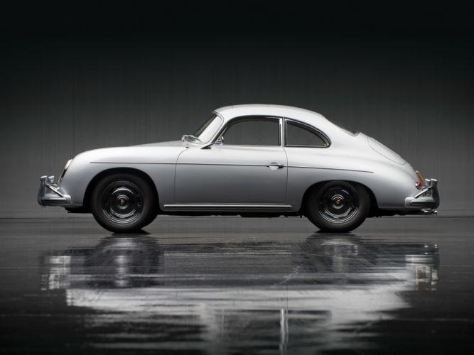 1957 Porsche 356A 1600 Super Coupe Reutter T-2 retro wallpaper