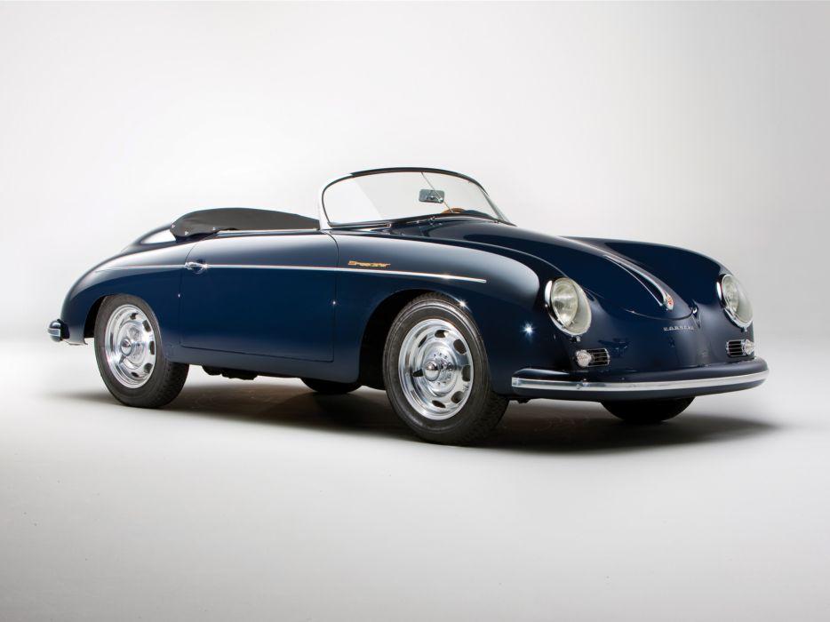 1958 Porsche 356A 1600 Speedster US-spec T-2 retro    ff wallpaper