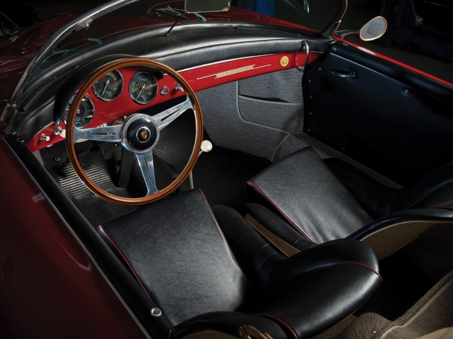 1958 Porsche 356A 1600 Speedster US-spec T-2 retro interior      d wallpaper
