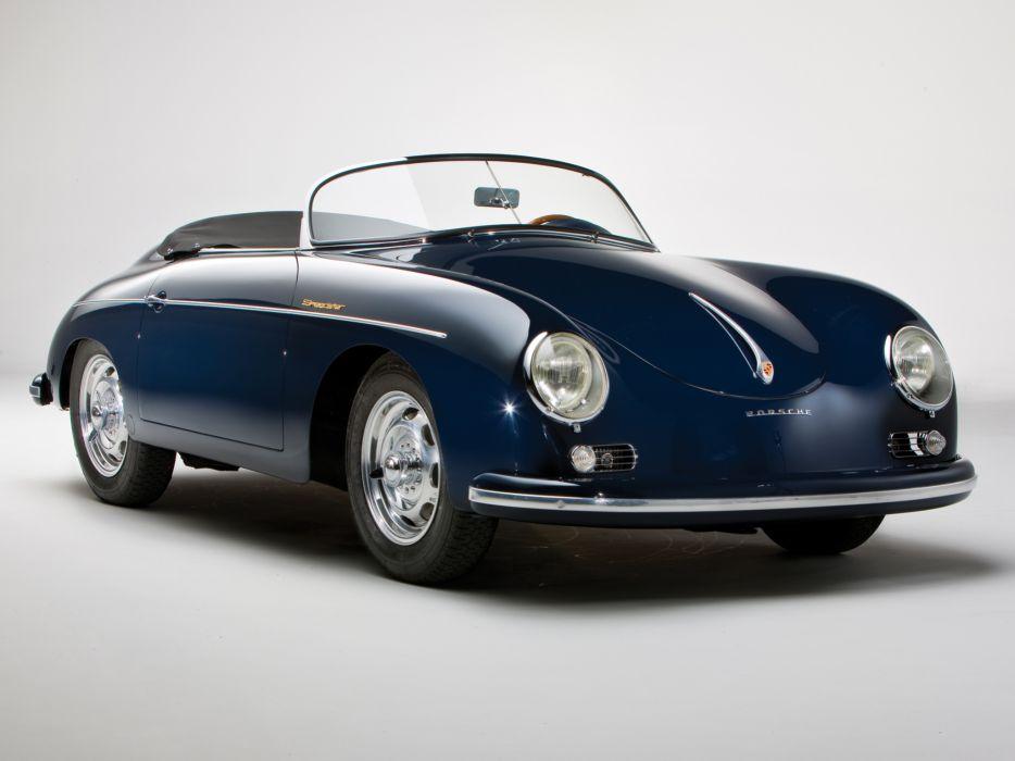 1958 Porsche 356A 1600 Speedster US-spec T-2 retro wallpaper