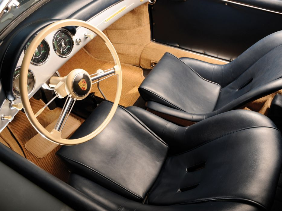 1958 Porsche 356A 1600 Super Speedster Reutter US-spec T-2 retro interior      g wallpaper