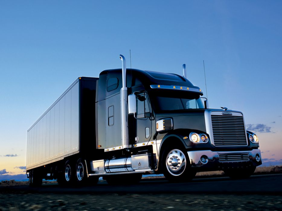 2002 Freightliner Coronado Raised Roof semi tractor   f wallpaper