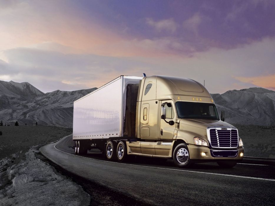 2007 Freightliner Cascadia Raised Roof semi tractor   e wallpaper