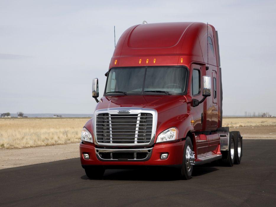 2007 Freightliner Cascadia Raised Roof semi tractor  v wallpaper