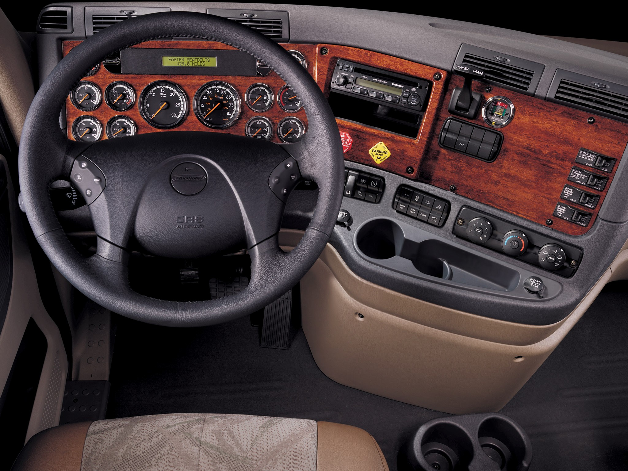2007 freightliner cascadia raised roof semi tractor interior wallpaper 2048x1536 130849 for 2007 freightliner columbia interior