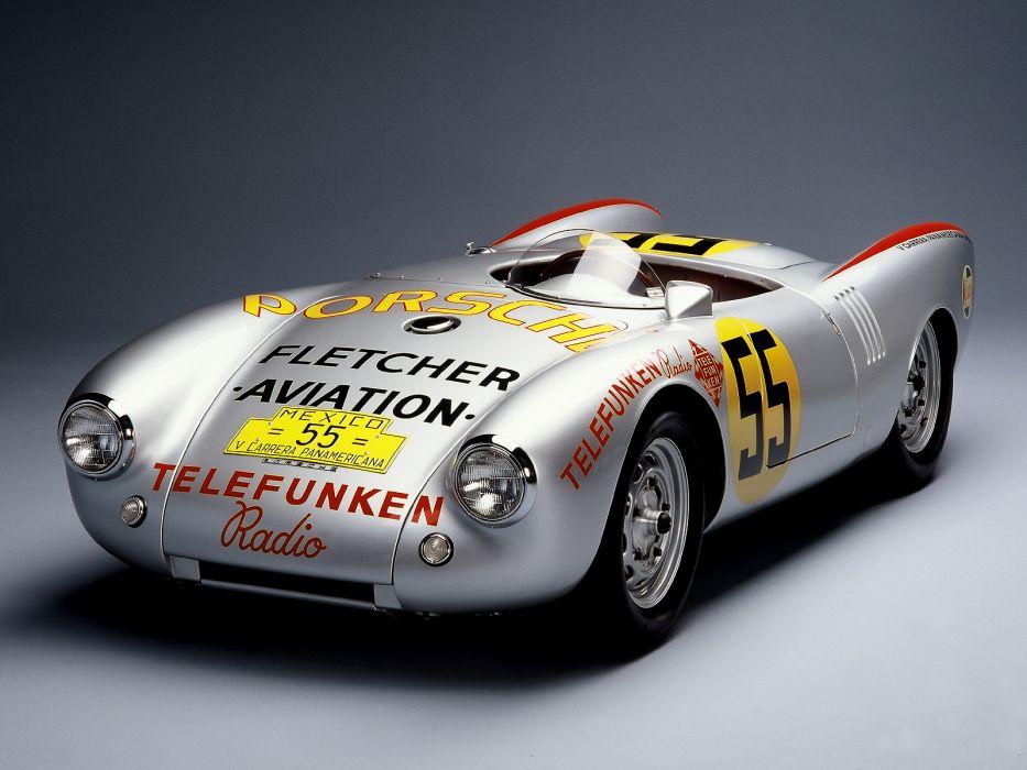 1954 Porsche 550 R-S Spyder Carrera Panamericana race racing retro    g wallpaper