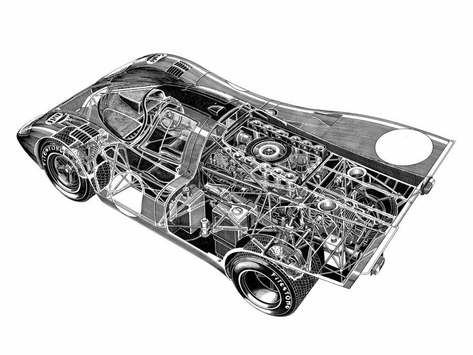 1969 Porsche 917K race racing classic 917 interior engine engines wallpaper