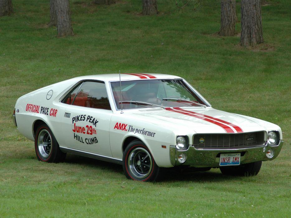 1969 AMC AMX Pikes Peak race racing muscle classic wallpaper