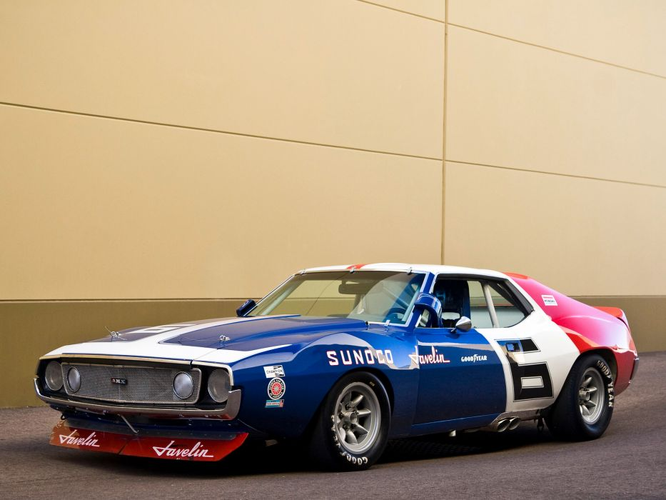 1970 AMC Javelin Trans-Am race racing classic muscle hot rod rods wallpaper