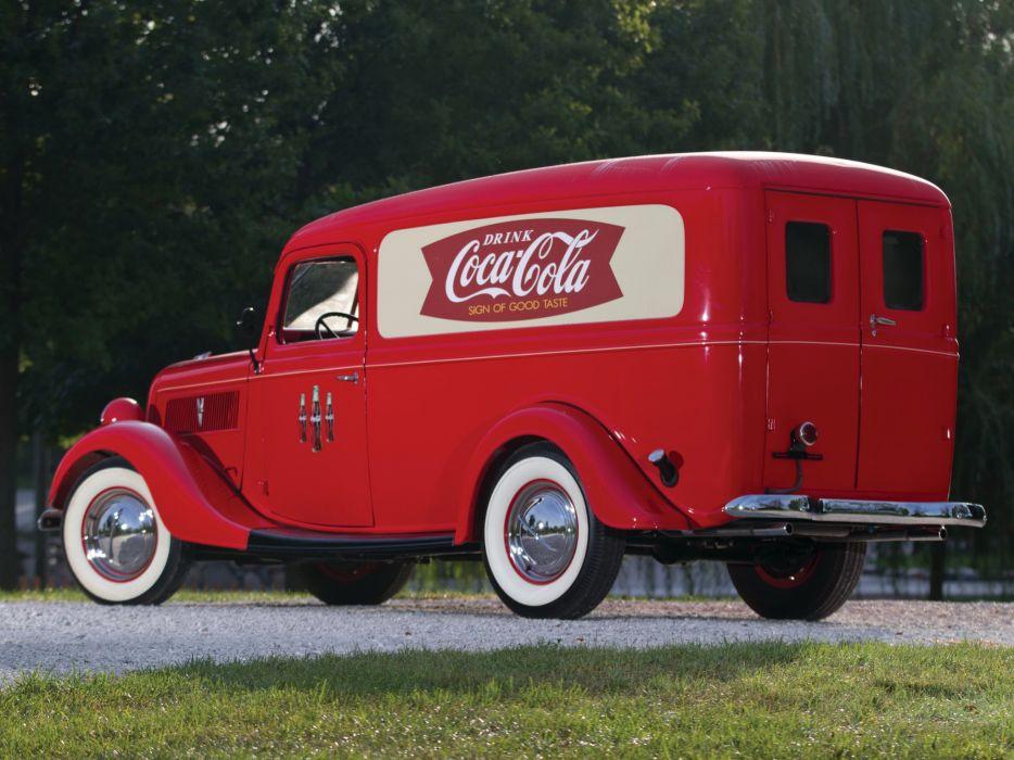 1937 Ford V8 Panel Delivery 77-820 retro v-8 drinks coca cola    f wallpaper