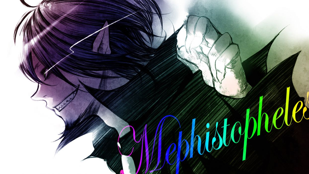 Ao No Exorcist Black Hair Male Mephisto Pheles Wallpaper