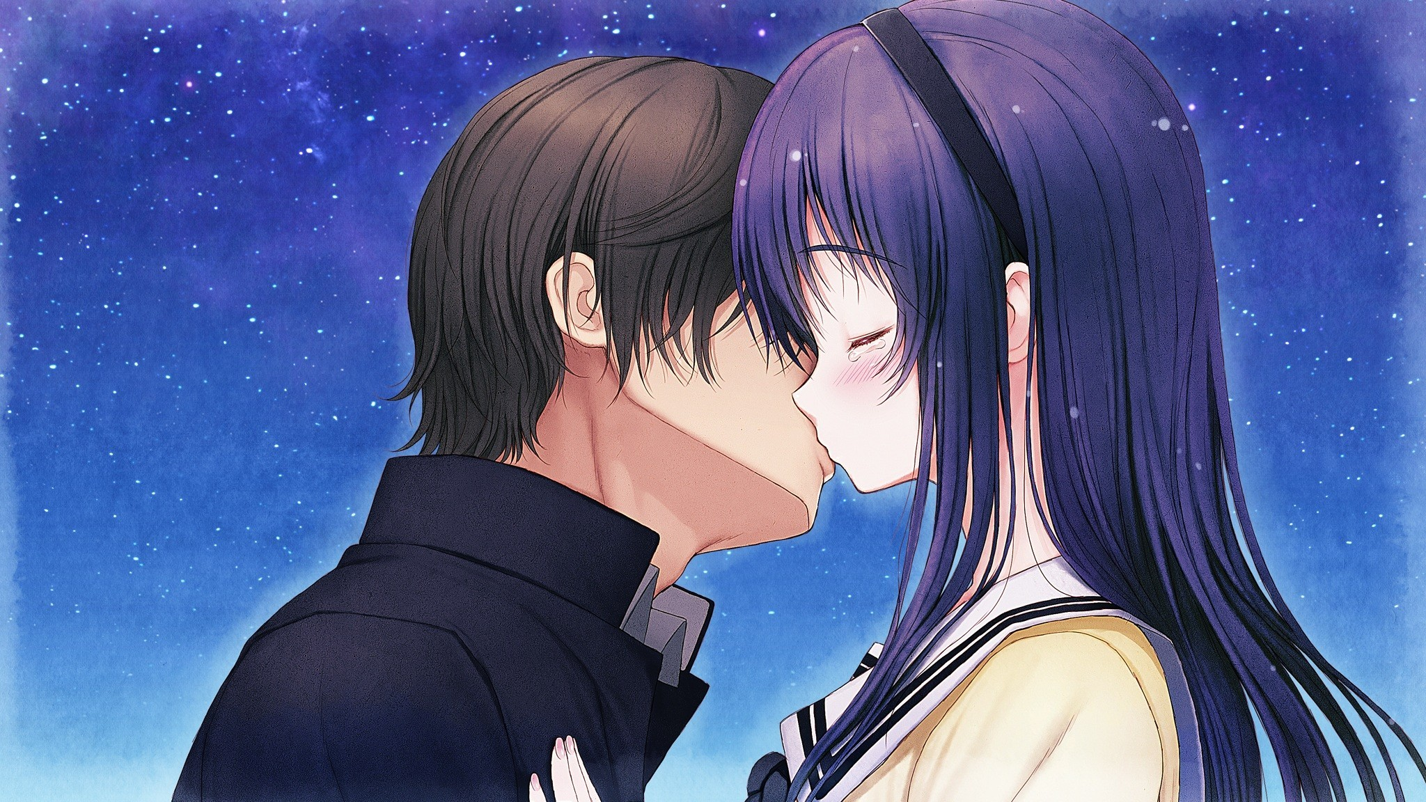 Animated Love Kiss Wallpaper : Kimi to Kanojo to Kanojo no Koi mood f wallpaper 2048x1152 132411 WallpaperUP