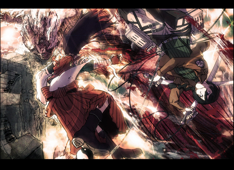 Shingeki No Kyojin Mugen Touhou Wallpaper 2480x1805