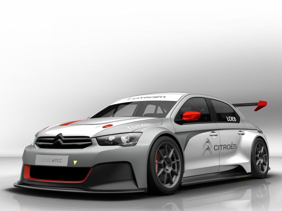 Citroen C-Elysee WTCC 2013 Prototype race racing  f wallpaper