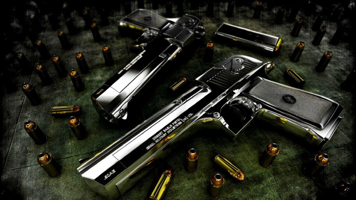 desert eagle pistol powerful ammo wallpaper