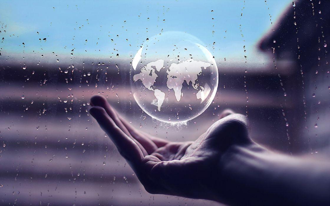 drops earth bubble bubbles bokeh wallpaper