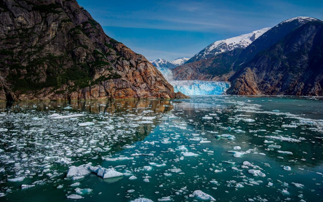 Glacier Bay Alaska mountains glaciers ice wallpaper