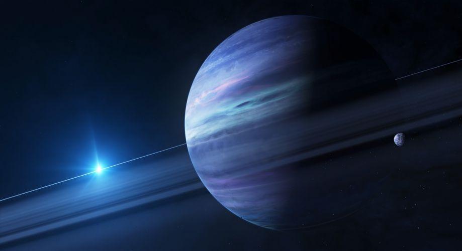 stars space planet art giant wallpaper