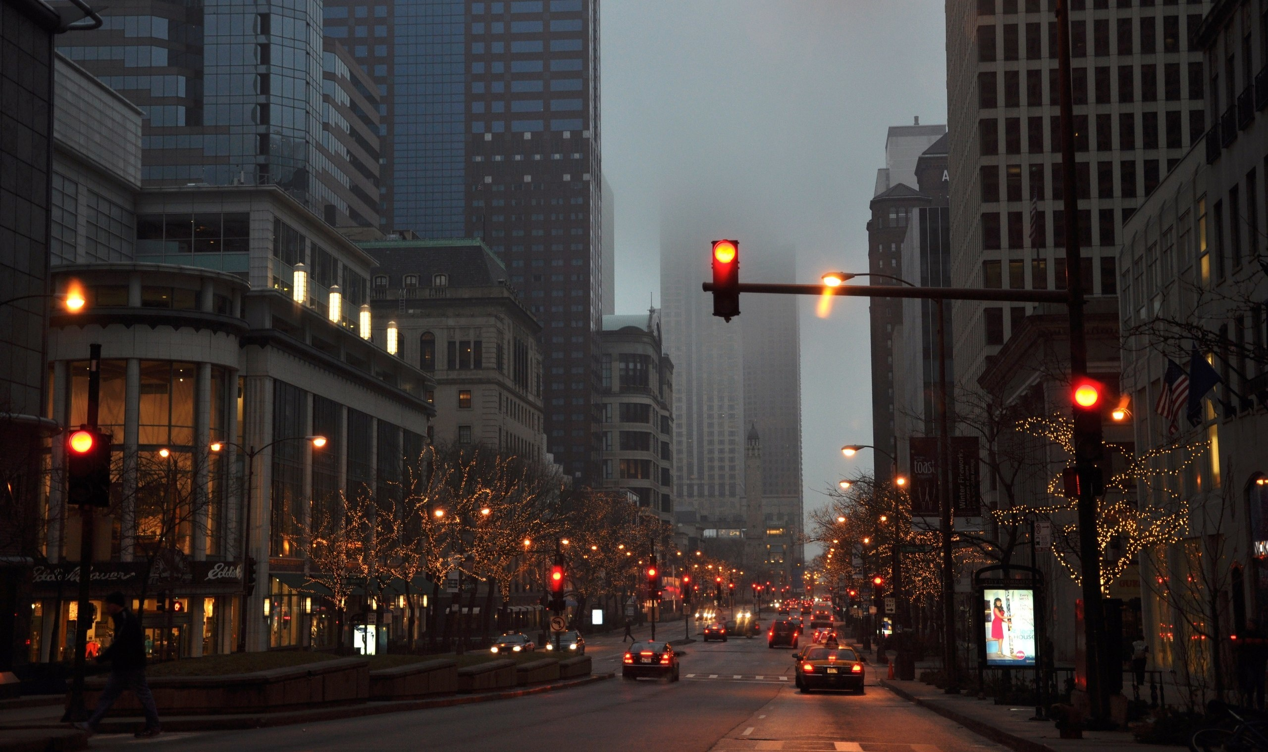 Street cars fog rain city wallpaper | 2560x1520 | 132784 ...