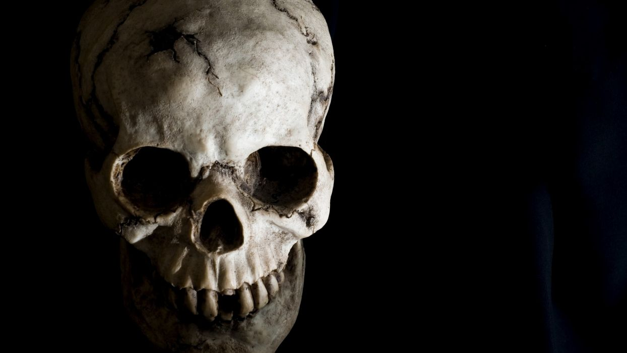 Skull Black wallpaper