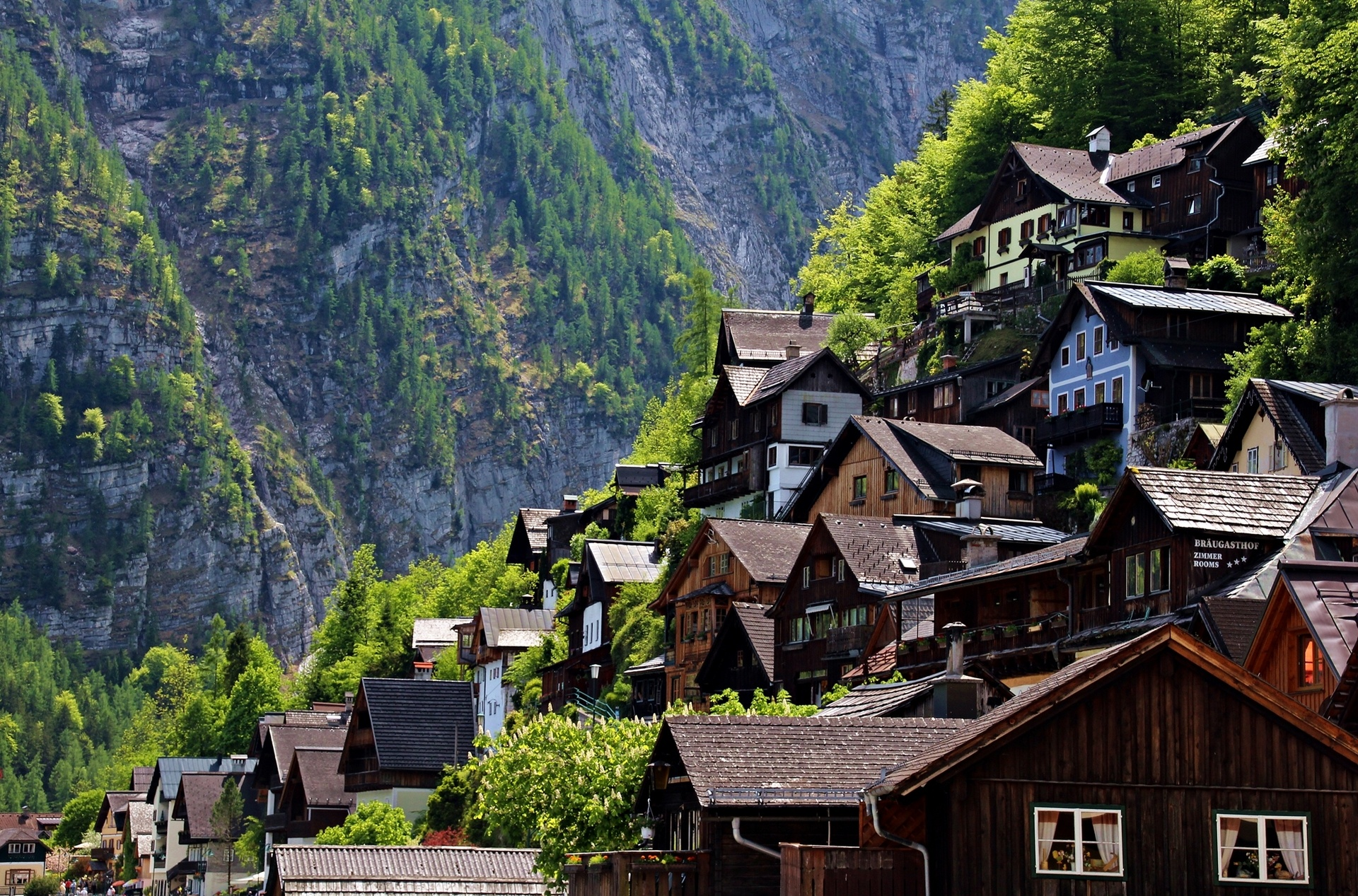 Austria houses mountain slope wallpaper 1920x1267 for House in the mountains