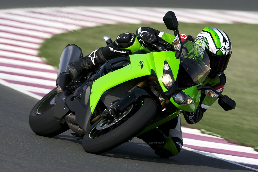 kawasaki racer motorcycle zx-10r ninja wallpaper