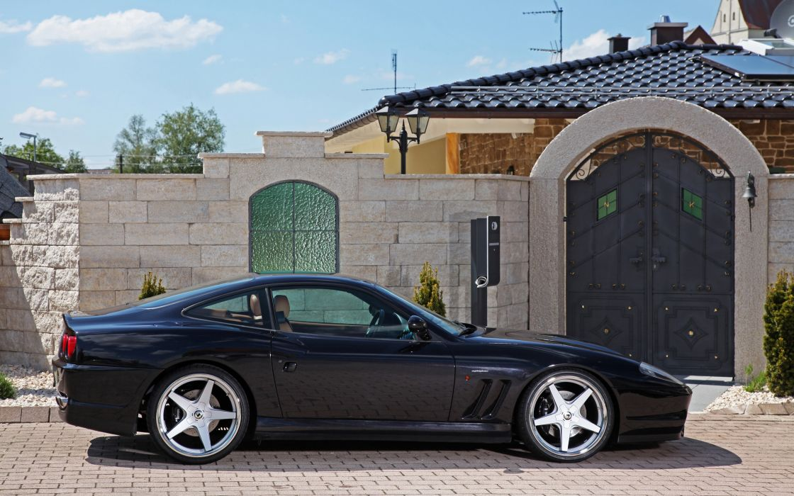 2002 Ferrari 575M Maranello supercar      d wallpaper