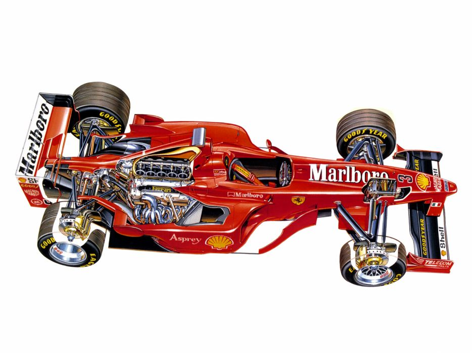 1998 Ferrari F300 formula one f-1 race racing interior engine wallpaper