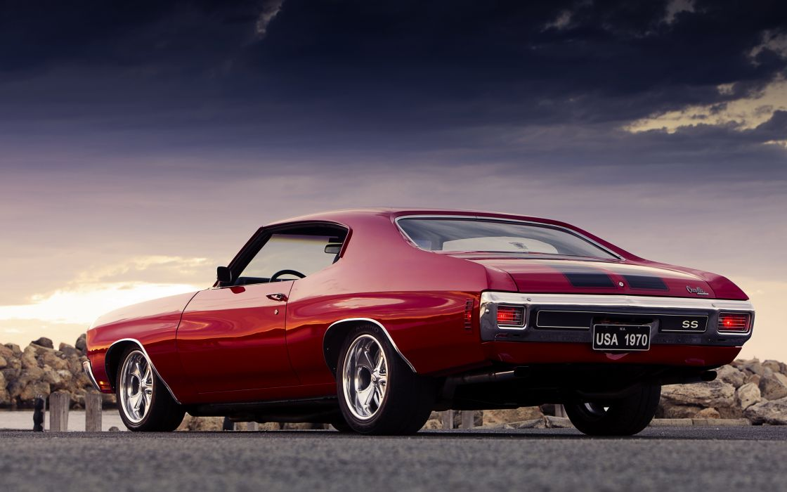 1970 Chevrolet Chevelle SS Hardtop Coupe muscle hot rod rods wallpaper