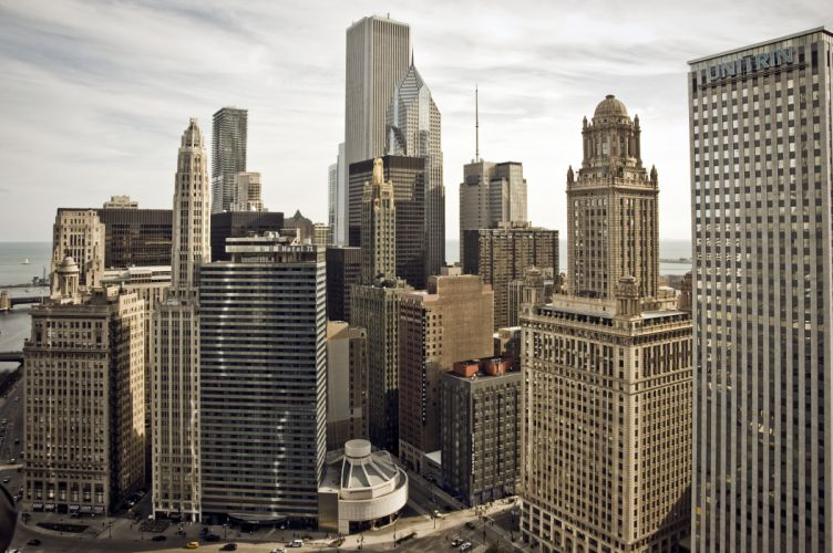 Chicago Illinois city skyscrapers buildings wallpaper