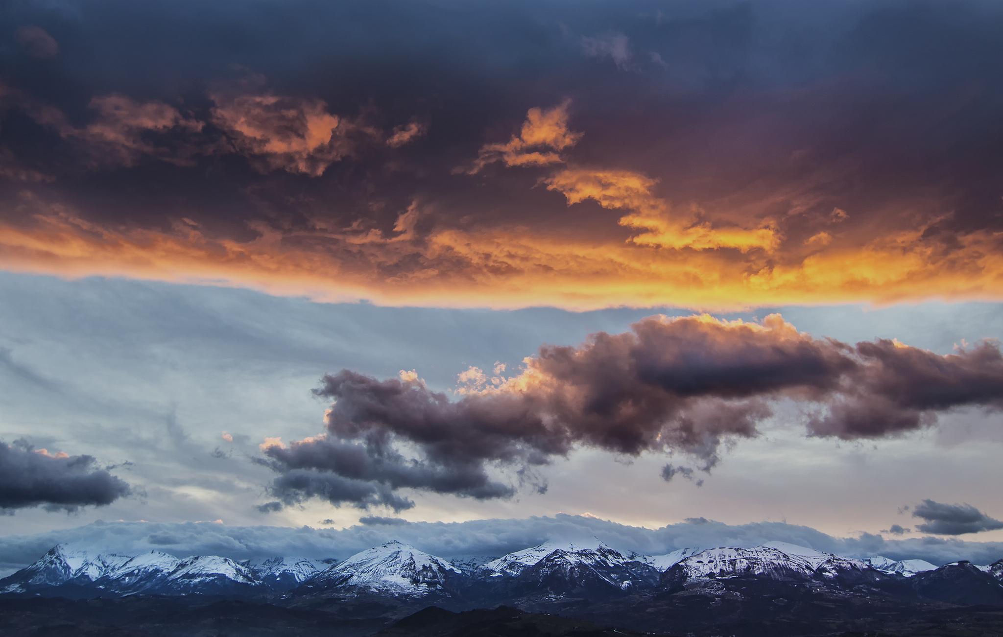 природа горы облака  № 2602285 загрузить
