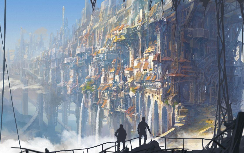 Fantastic world Fantasy Cities city wallpaper