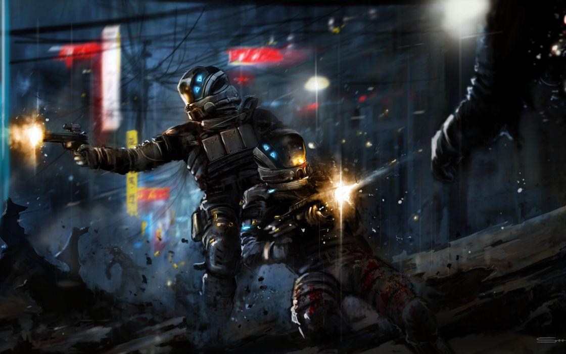 Blacklight Retribution game warrior urban battle warrior sci-fi wallpaper