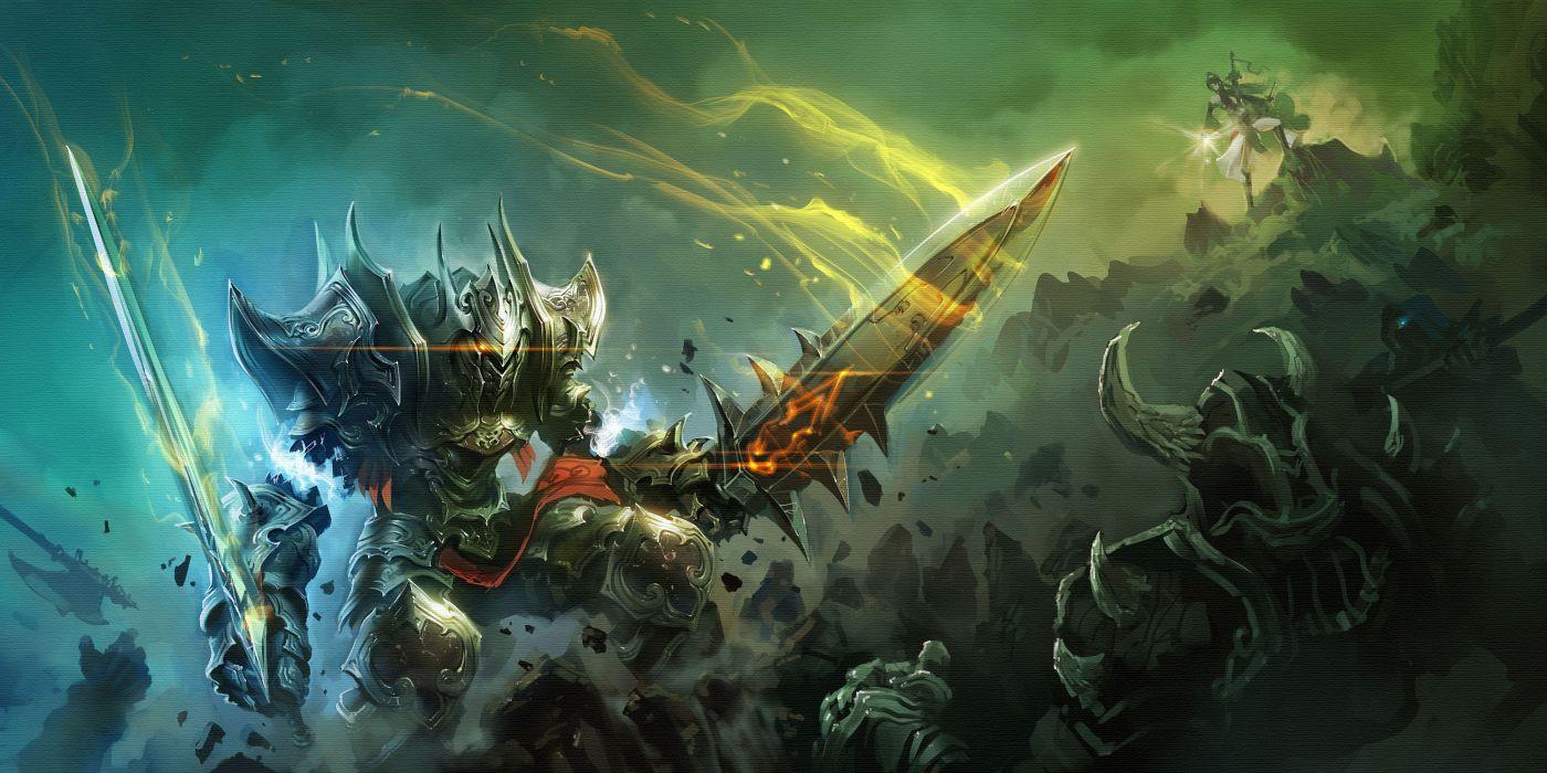 Battle Warrior Armor Sword magic wallpaper