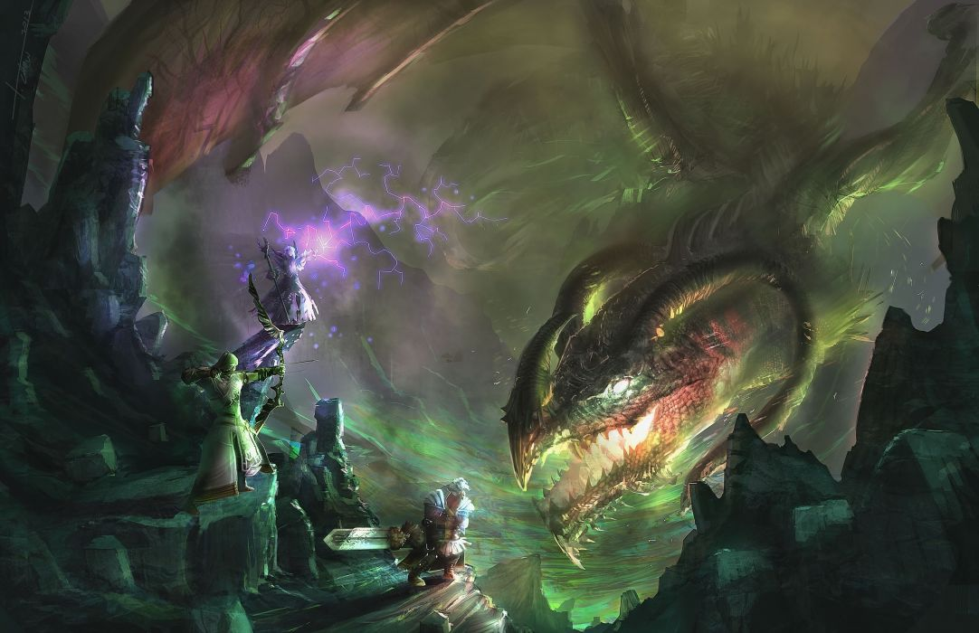 Guild Wars 2 dragon dragons monster creature fantasy wallpaper